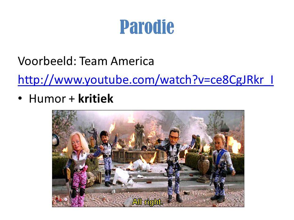 Parodie Voorbeeld: Team America