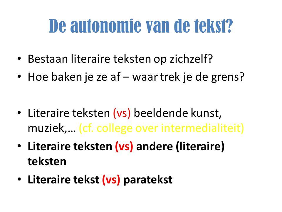 De autonomie van de tekst