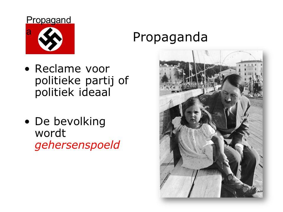 Propaganda Reclame voor politieke partij of politiek ideaal