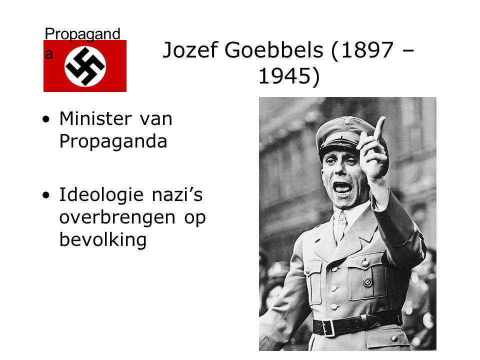 Jozef Goebbels (1897 – 1945) Minister van Propaganda