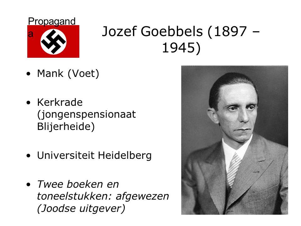Jozef Goebbels (1897 – 1945) Mank (Voet)