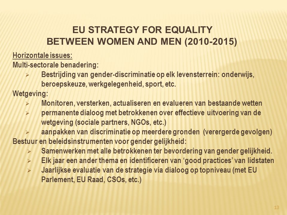 EU Strategy for Equality between women and men (2010-2015)