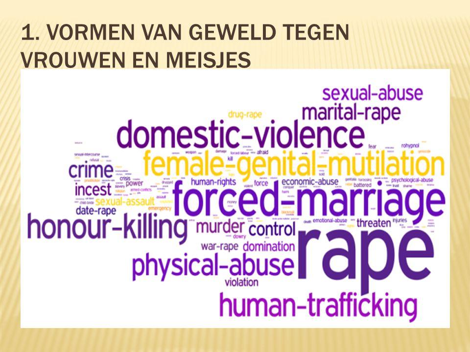 1. Vormen van geweld tegen vrouwen en meisjes