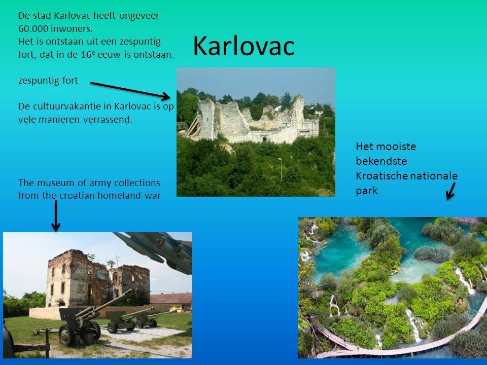 Karlovac Het mooiste bekendste Kroatische nationale park