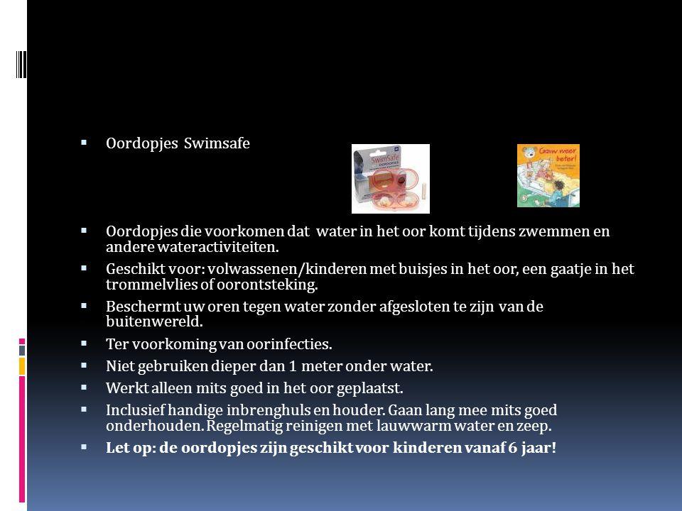 Oordopjes Swimsafe Oordopjes die voorkomen dat water in het oor komt tijdens zwemmen en andere wateractiviteiten.