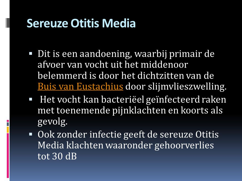 Sereuze Otitis Media