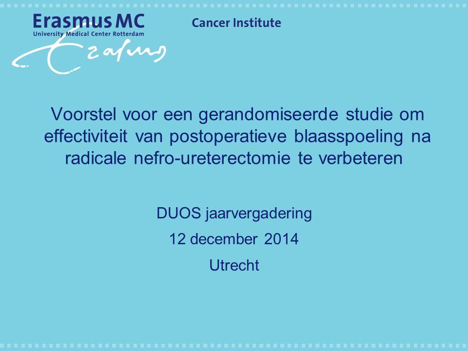 DUOS jaarvergadering 12 december 2014 Utrecht