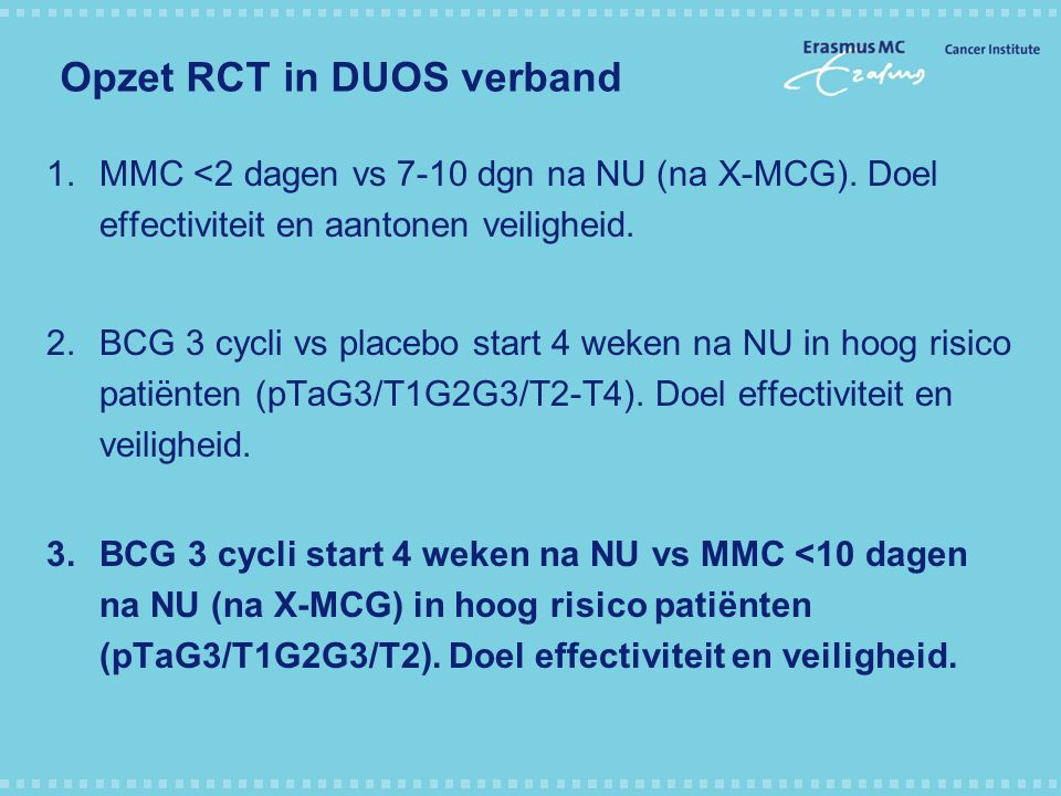 Opzet RCT in DUOS verband