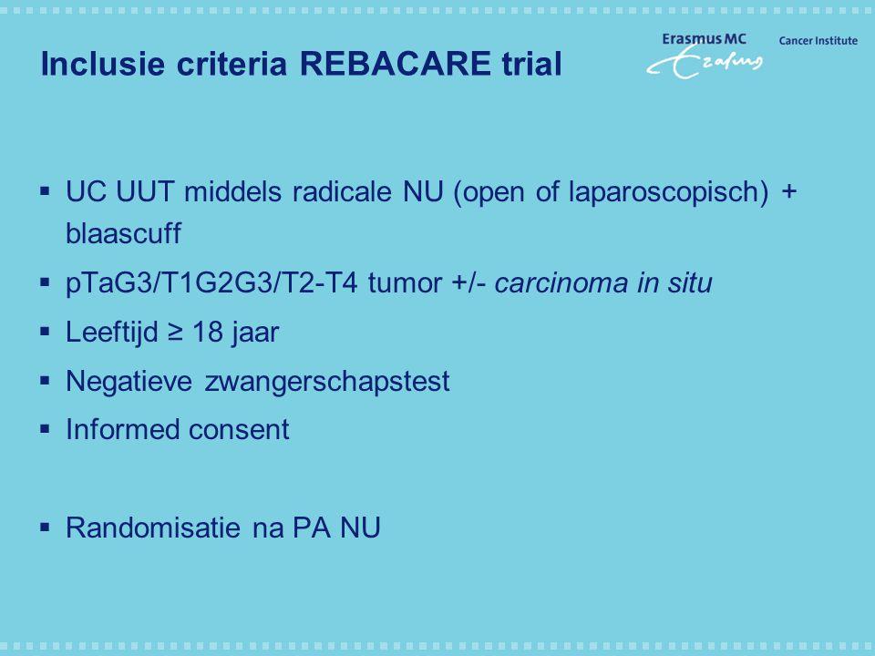 Inclusie criteria REBACARE trial