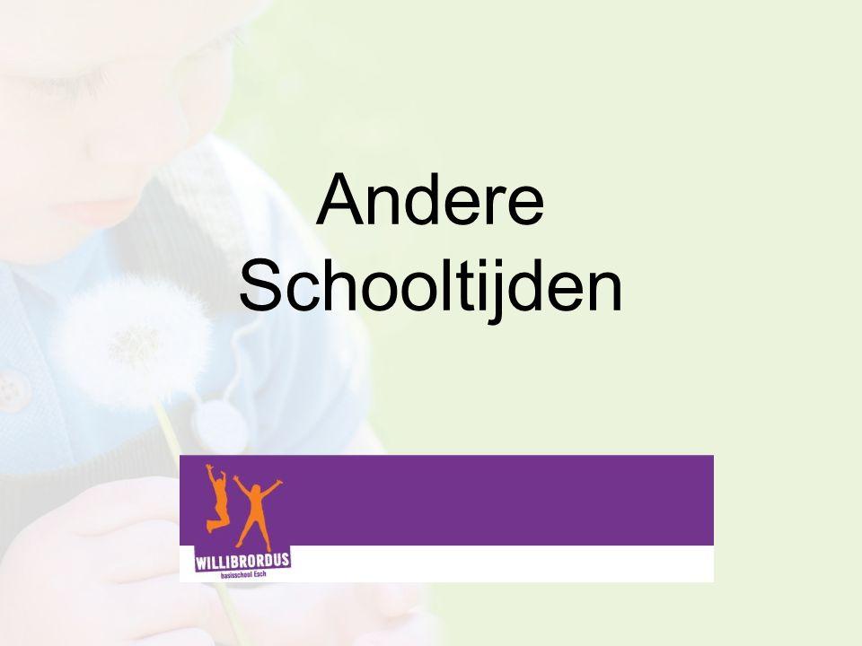 Andere Schooltijden 12 januari 2015