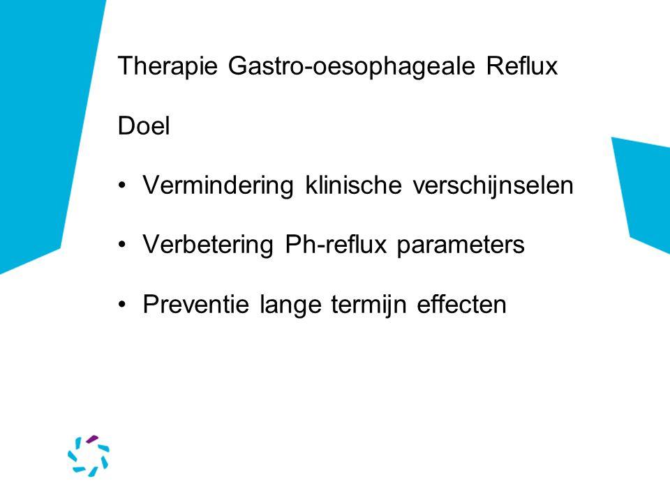 Therapie Gastro-oesophageale Reflux