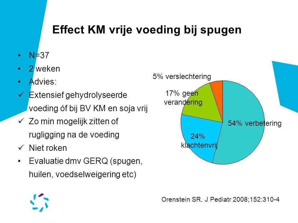 Effect KM vrije voeding bij spugen