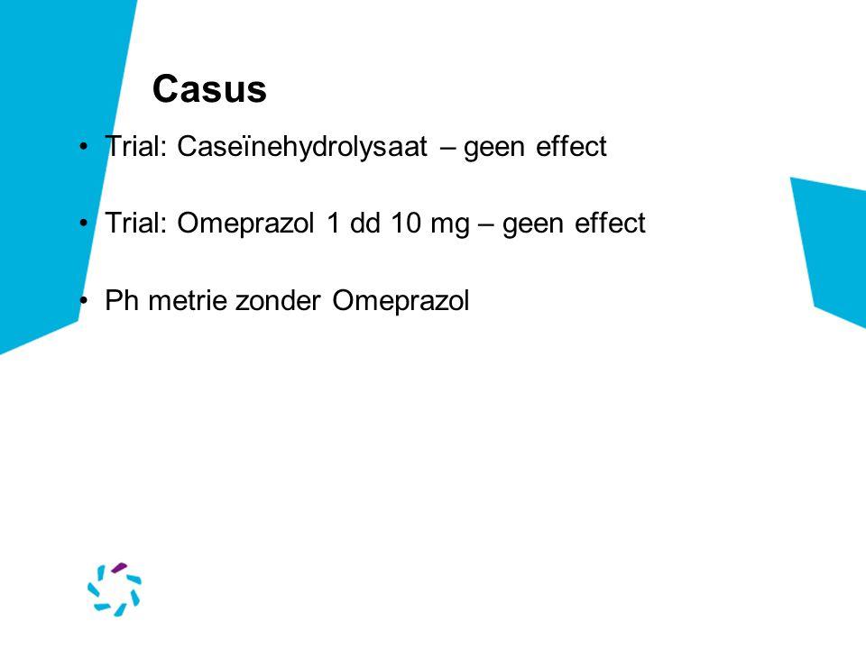 Casus Trial: Caseïnehydrolysaat – geen effect
