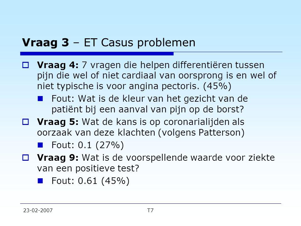 Vraag 3 – ET Casus problemen