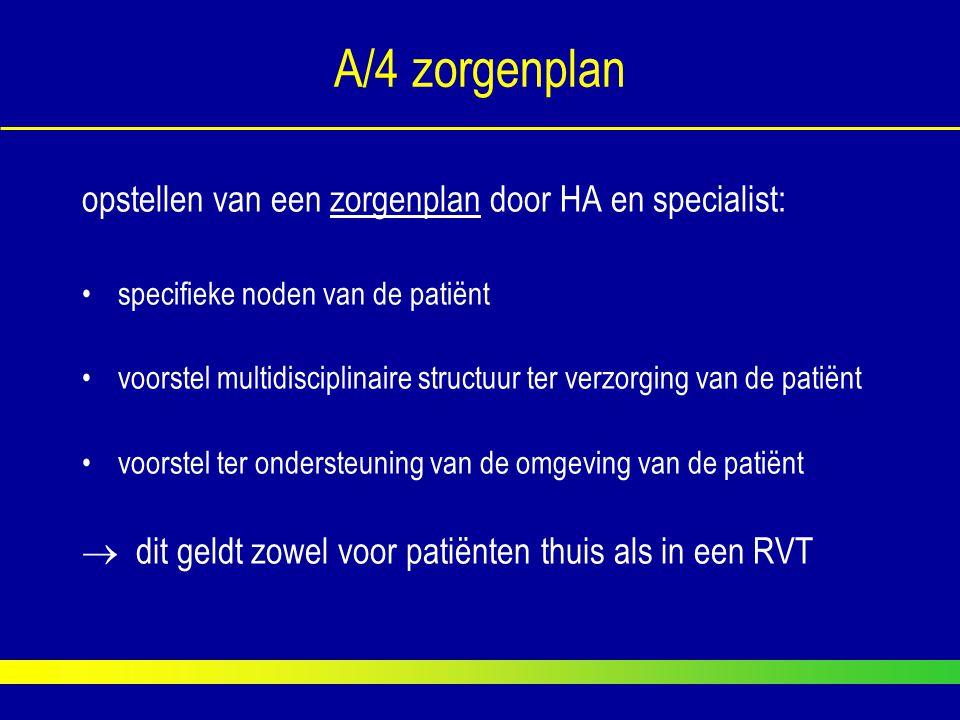 A/4 zorgenplan opstellen van een zorgenplan door HA en specialist: