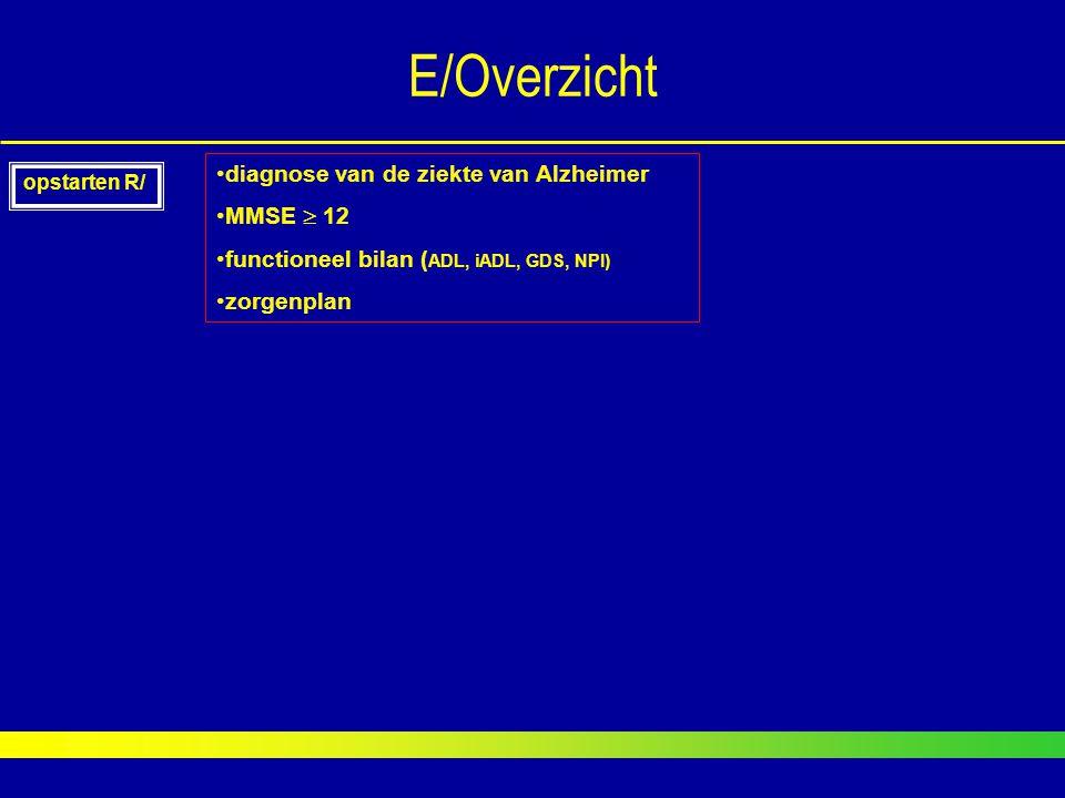 E/Overzicht diagnose van de ziekte van Alzheimer MMSE  12