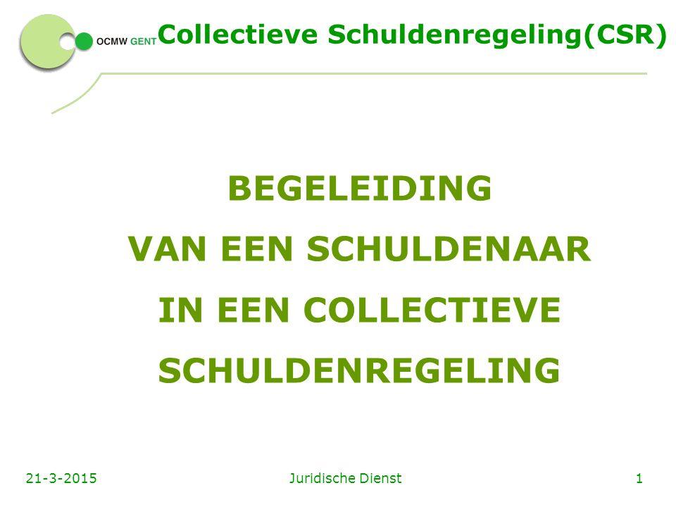 Collectieve Schuldenregeling(CSR)