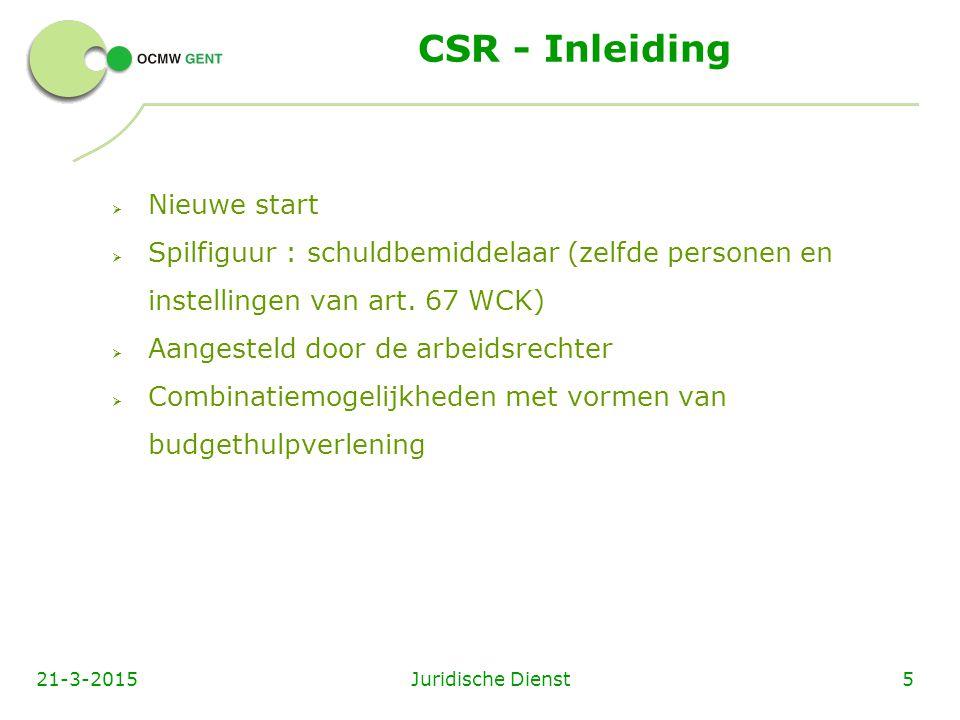 CSR - Inleiding Nieuwe start