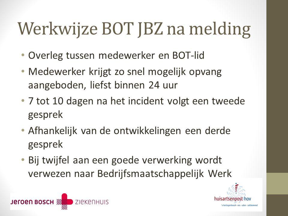 Werkwijze BOT JBZ na melding