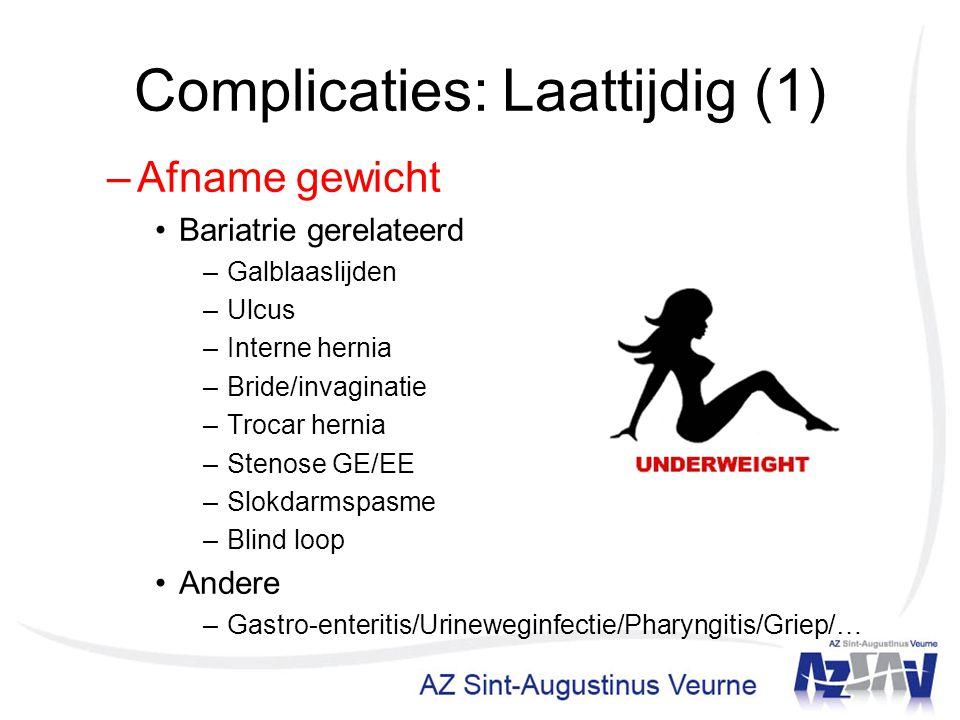 Complicaties: Laattijdig (1)