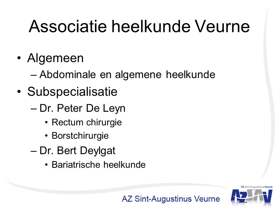 Associatie heelkunde Veurne