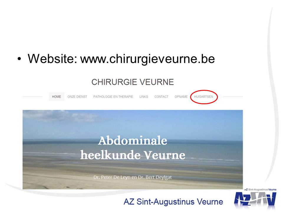 Website: www.chirurgieveurne.be