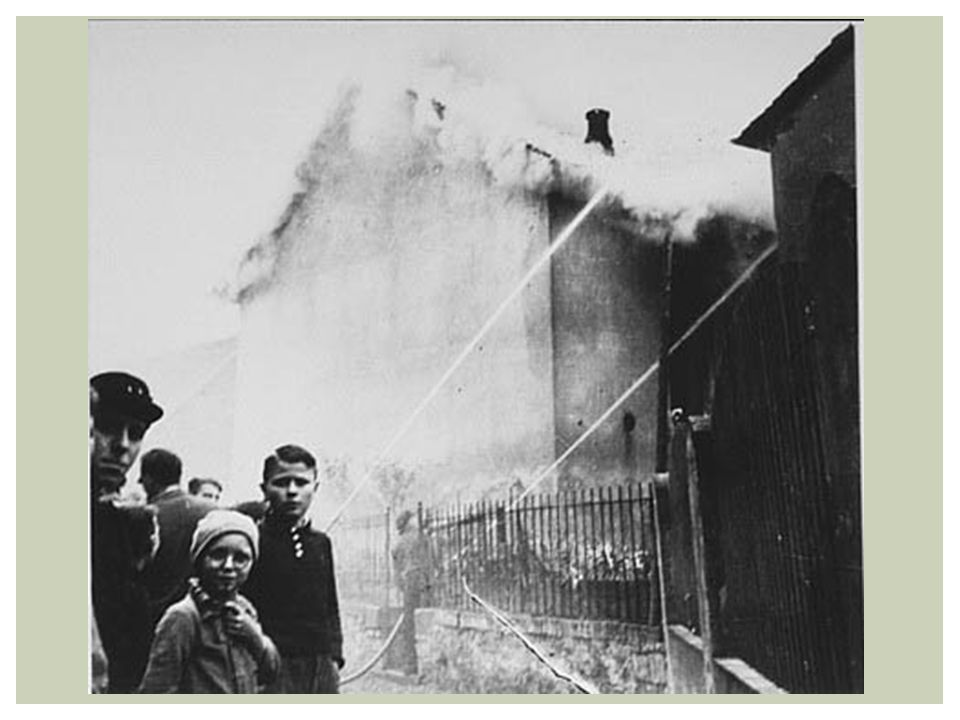 The burning of the synagogue in Ober Ramstadt during Kristallnacht