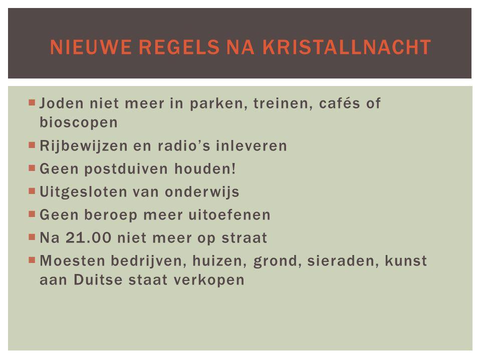 Nieuwe regels na Kristallnacht