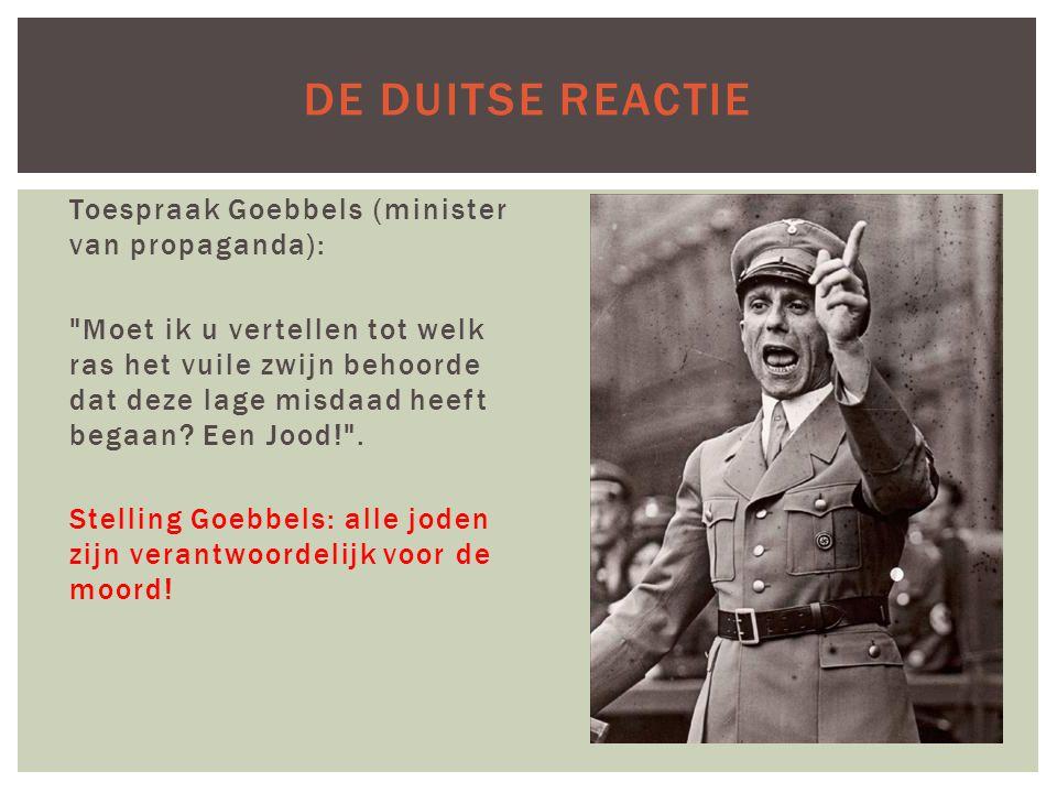 De Duitse reactie