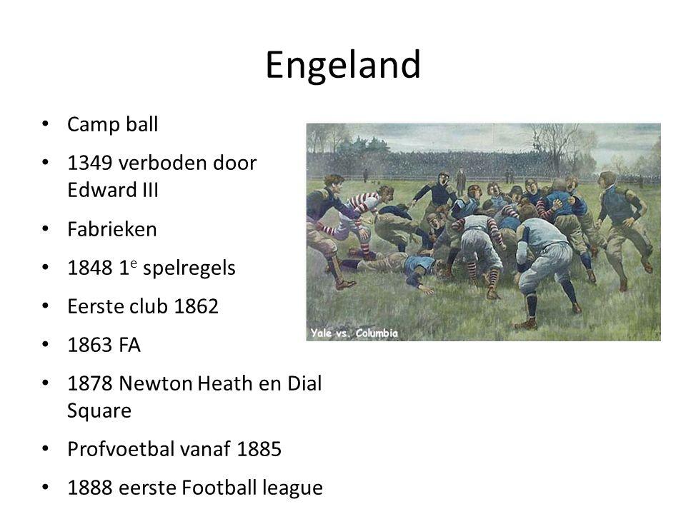 Engeland Camp ball 1349 verboden door Edward III Fabrieken