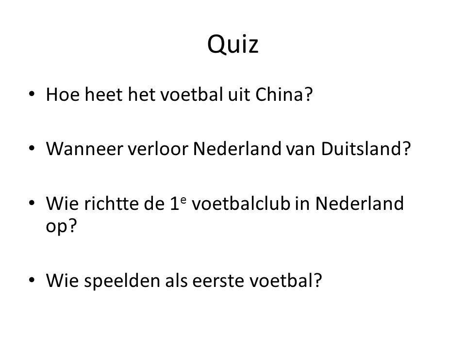 Quiz Hoe heet het voetbal uit China