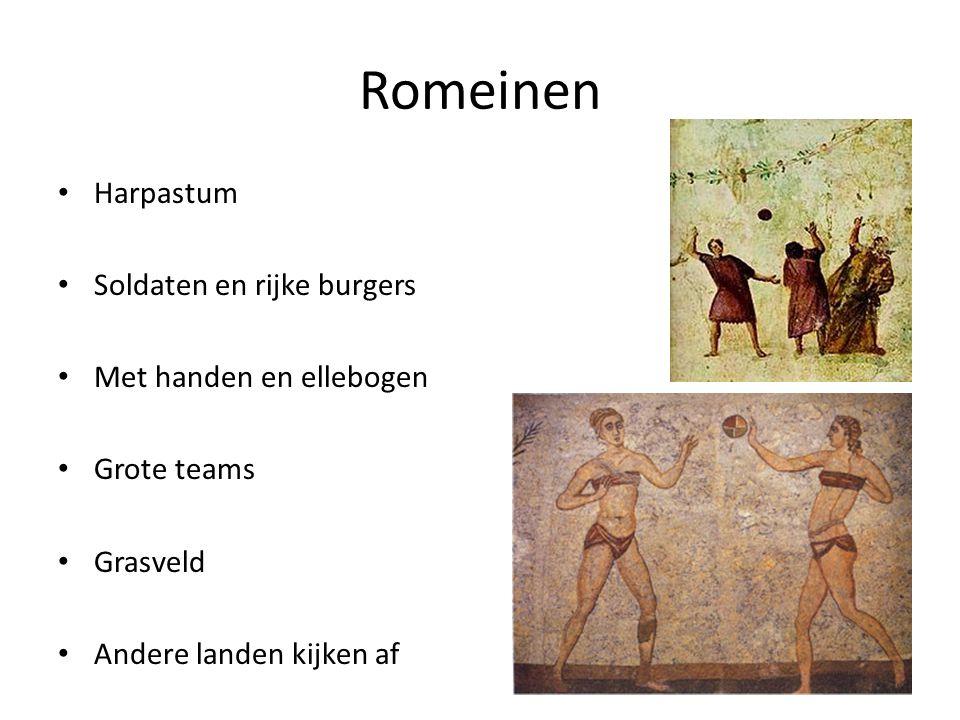 Romeinen Harpastum Soldaten en rijke burgers Met handen en ellebogen