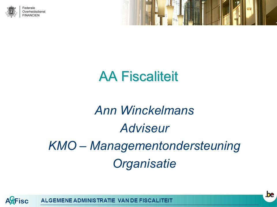 Ann Winckelmans Adviseur KMO – Managementondersteuning Organisatie
