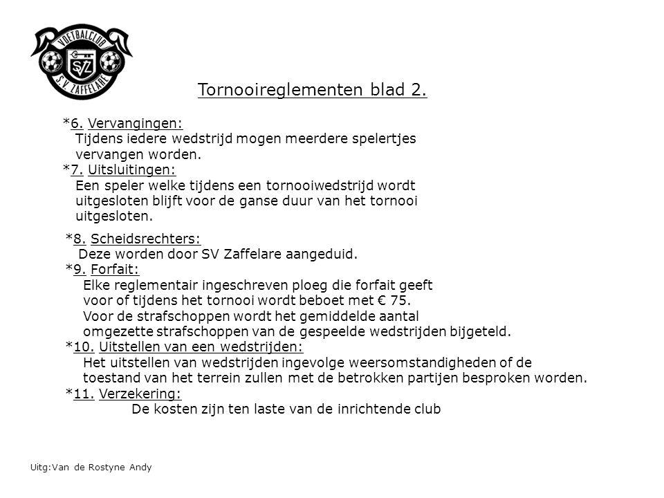 Tornooireglementen blad 2.