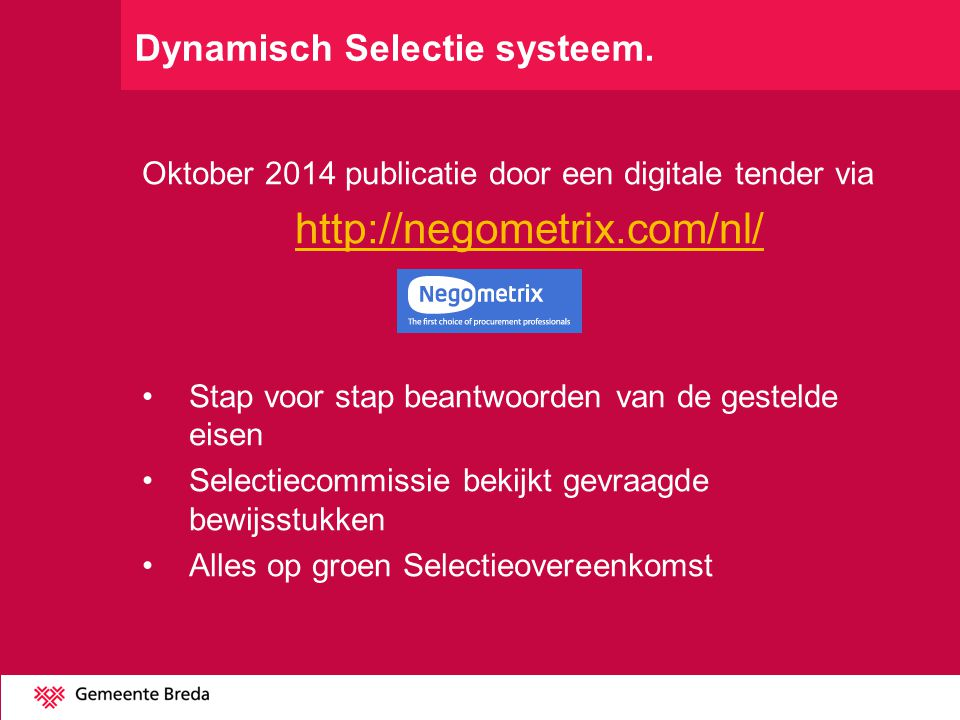 Dynamisch Selectie systeem.
