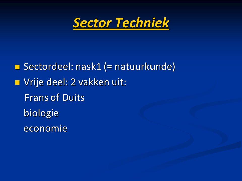 Sector Techniek Sectordeel: nask1 (= natuurkunde)