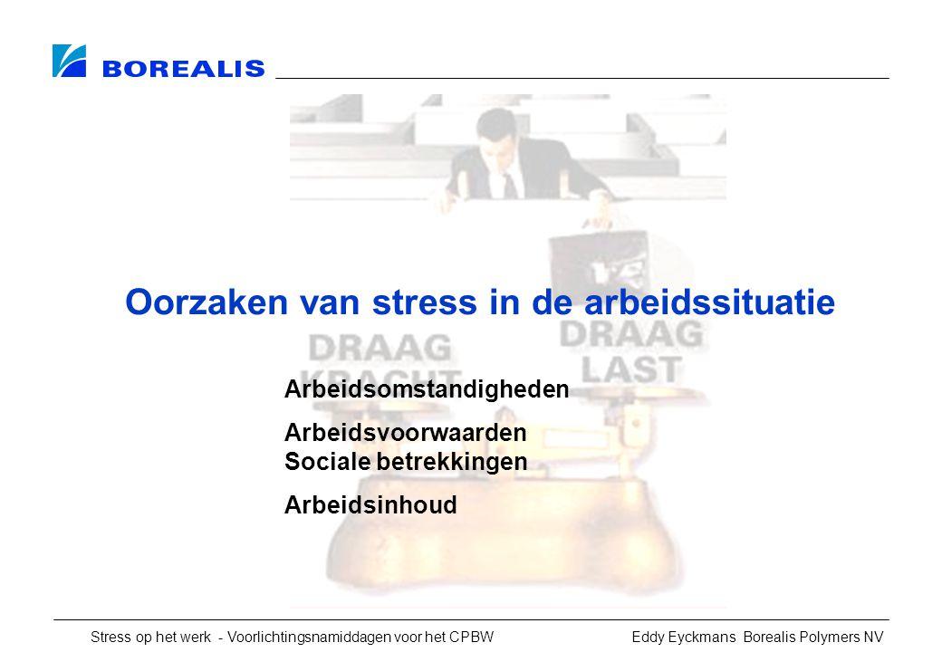 Oorzaken van stress in de arbeidssituatie
