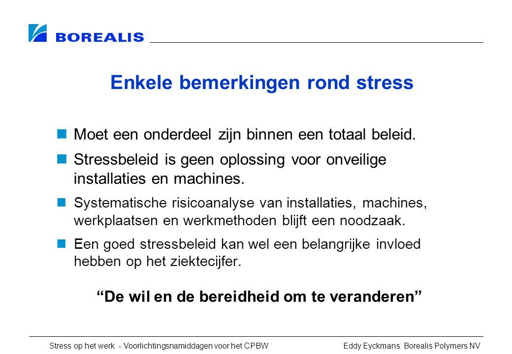 Enkele bemerkingen rond stress