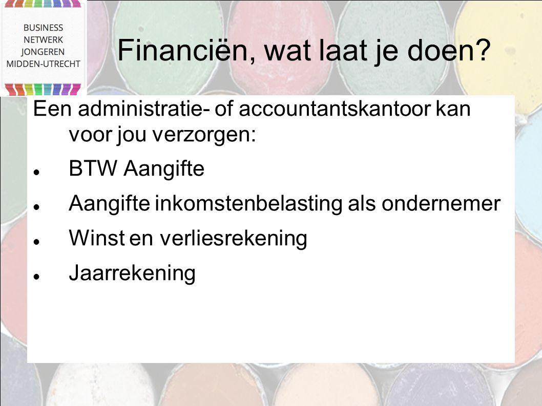 Financiën, wat laat je doen