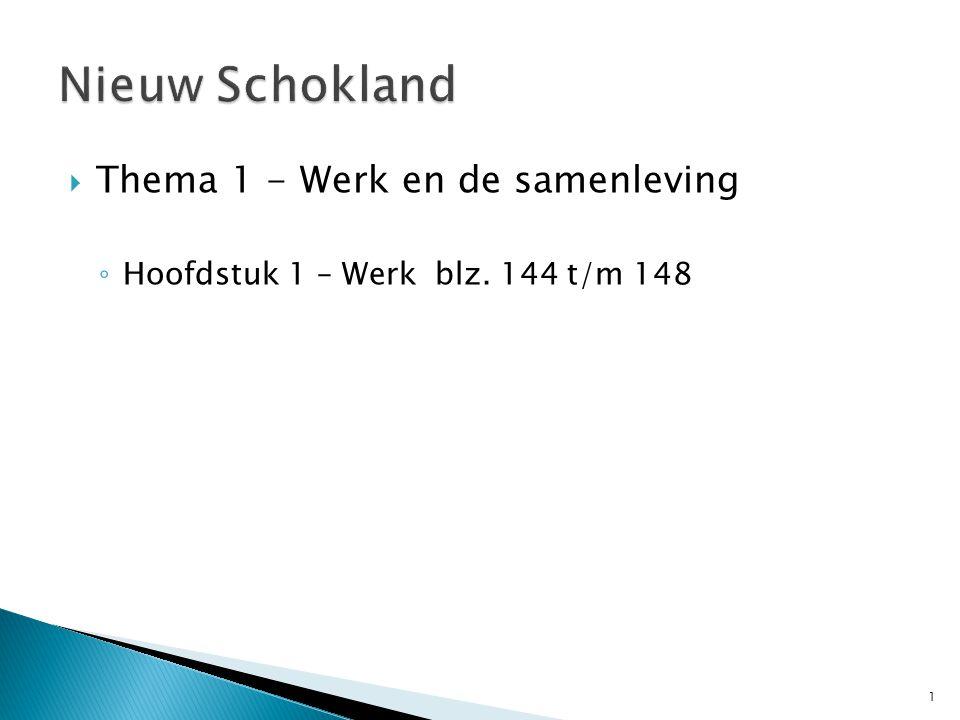 Nieuw Schokland Thema 1 - Werk en de samenleving