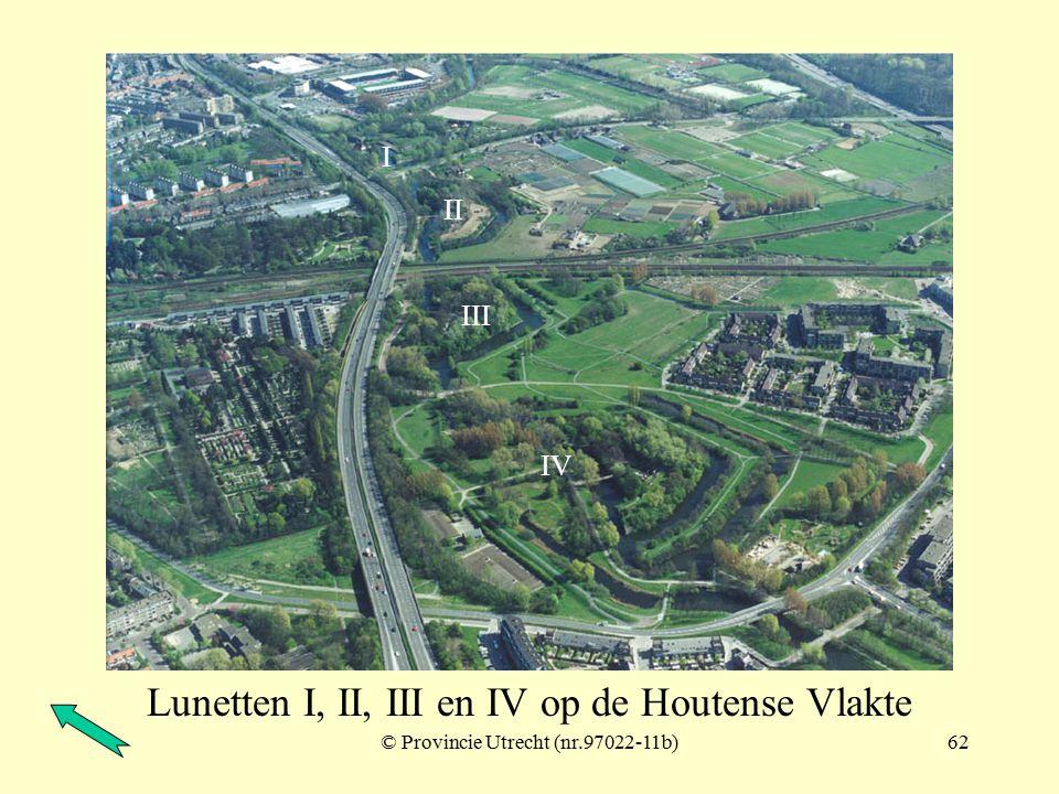 Lunetten I, II, III en IV op de Houtense Vlakte
