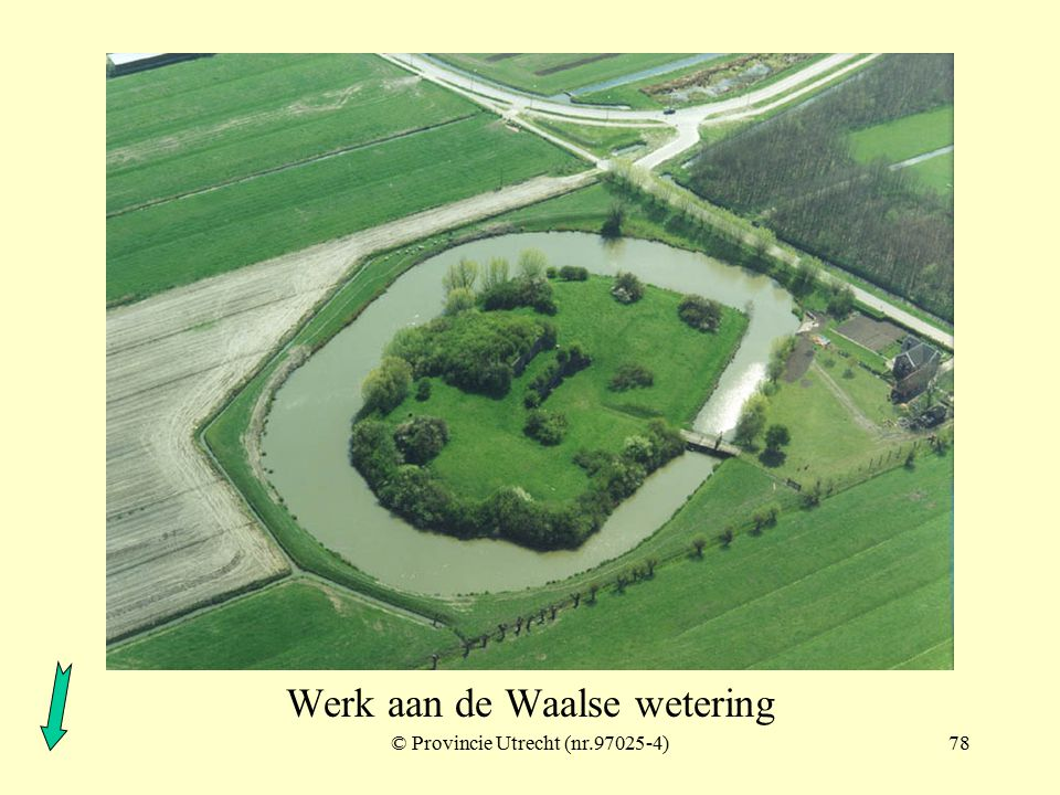 Gedekte weg bij Fort Honswijk
