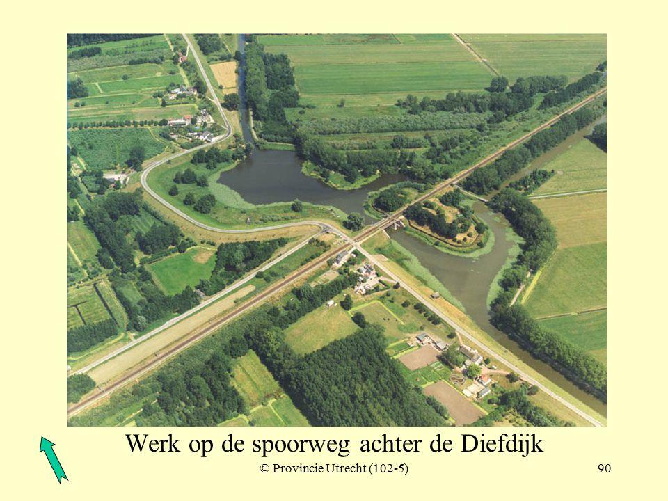 Werk op de spoorweg achter de Diefdijk