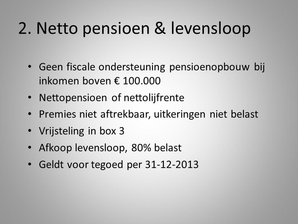 2. Netto pensioen & levensloop