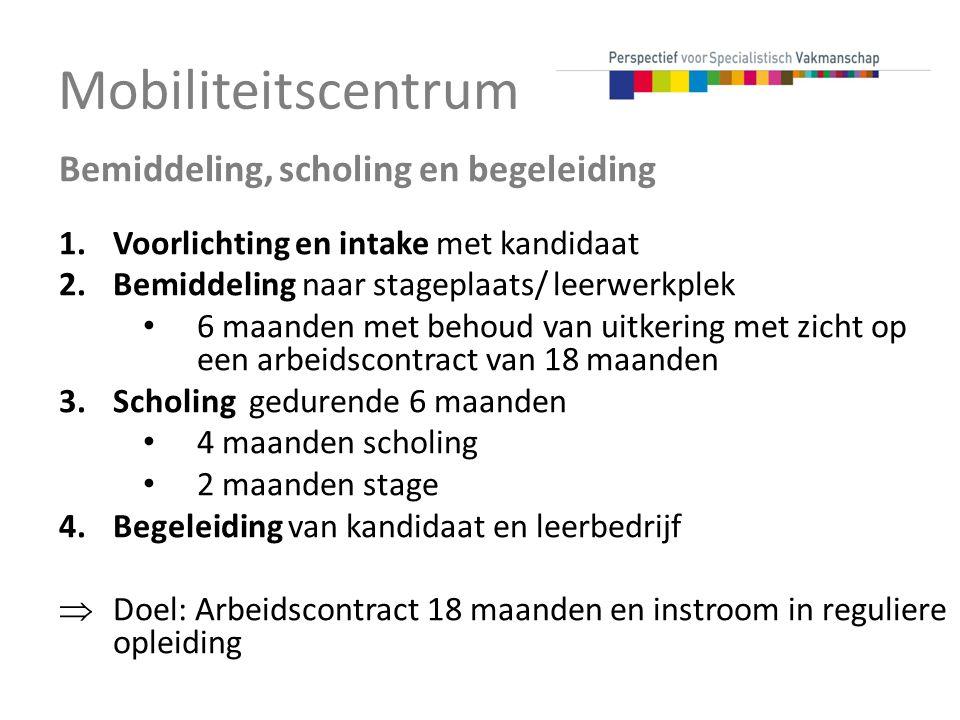 Mobiliteitscentrum Bemiddeling, scholing en begeleiding