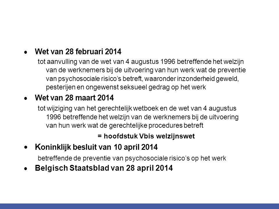 Koninklijk besluit van 10 april 2014