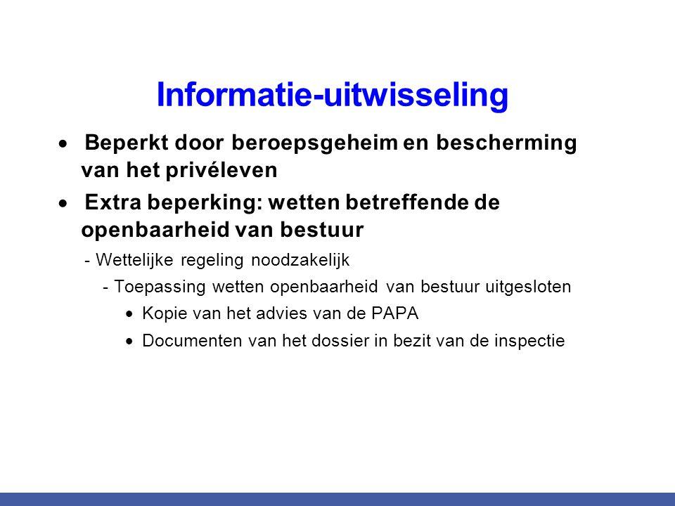 - Toepassing wetten openbaarheid van bestuur uitgesloten
