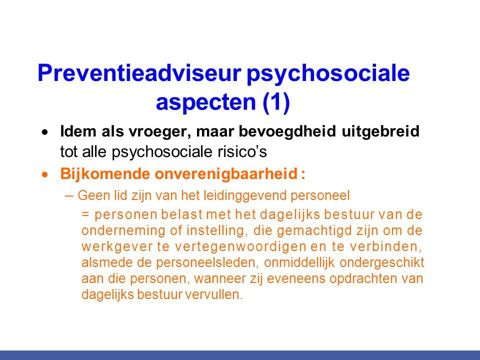 Preventieadviseur psychosociale aspecten (1)