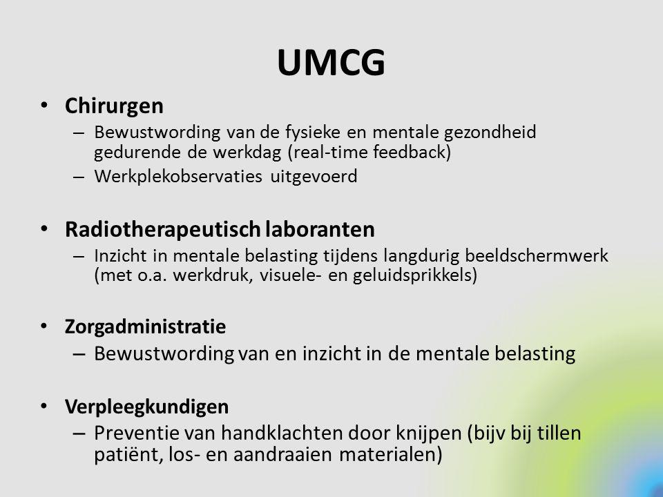 UMCG Chirurgen Radiotherapeutisch laboranten Zorgadministratie