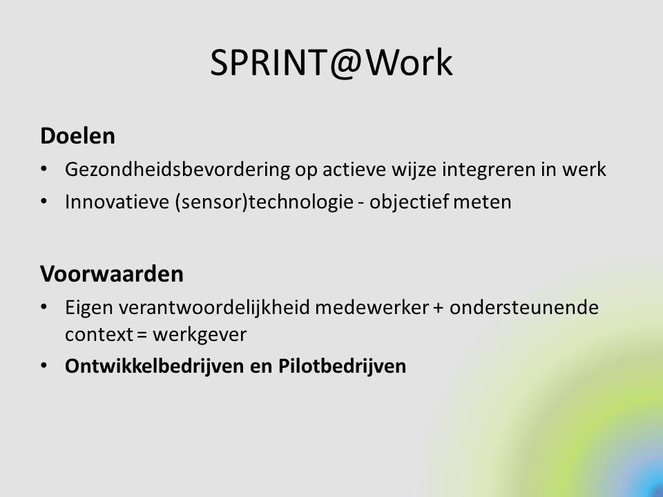 SPRINT@Work Doelen Voorwaarden